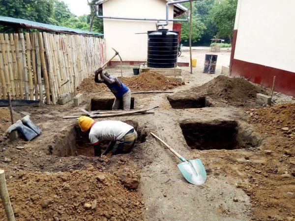 Bau des Wasserfilteres