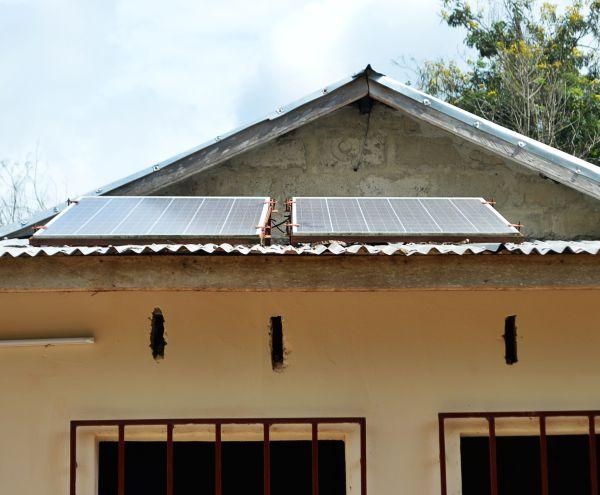 Solarpanele in Togo.