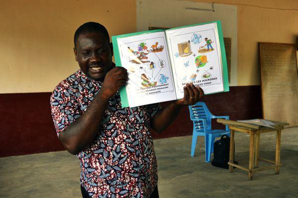 Aufklärung über Hygiene in Togo