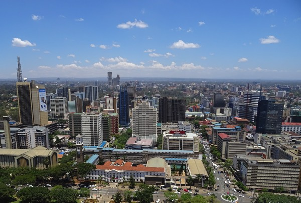 Ausblick vom Turm des Kenyatta International Conference Centre.