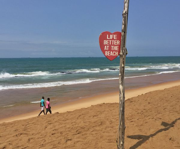 Strand in Lome im westafrikanischen Togo