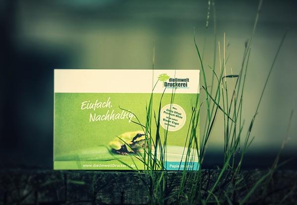 dieUmweltDruckerei bietet ausschließlich 100 % Recyclingpapier