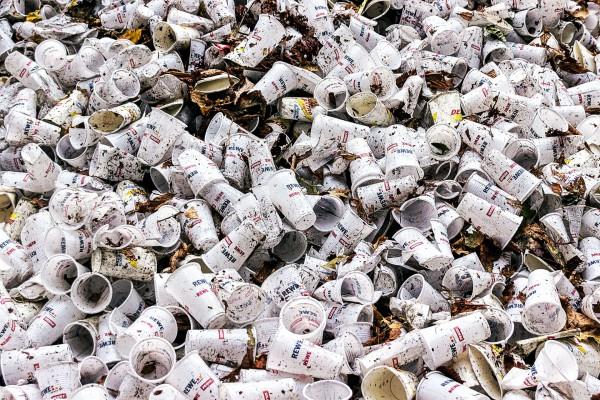 Becher, Plastik, Müll
