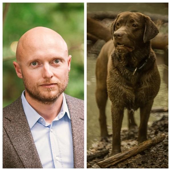 Thorsten Walter und sein Labrador Eddie