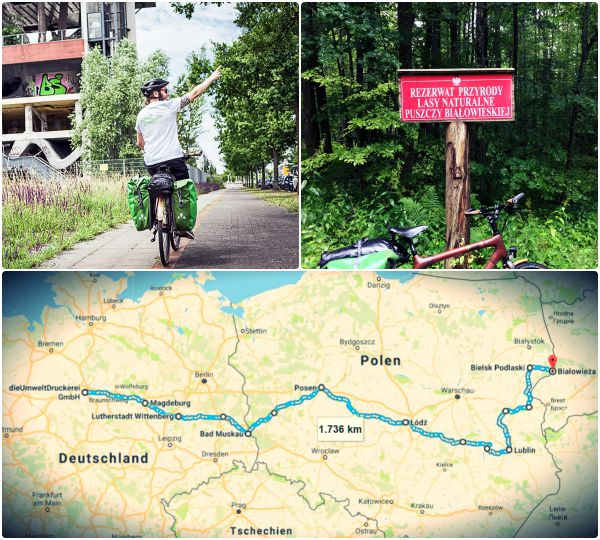 Von Hannover bis nach Białowieża - Die Strecke unserer Spendenradtour